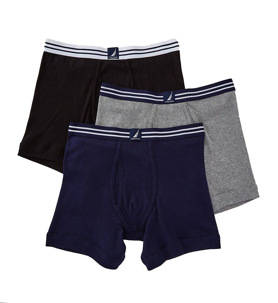 nautica n60304 100 cotton boxer briefs 3 pack ebay. Black Bedroom Furniture Sets. Home Design Ideas