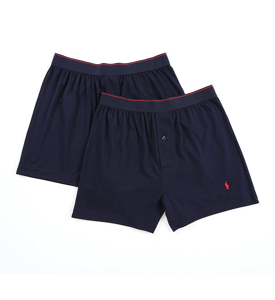 polo ralph lauren l064 supreme comfort knit boxer 2 pack ebay. Black Bedroom Furniture Sets. Home Design Ideas