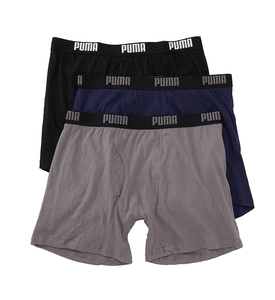 puma pmcbb f performance 100 cotton boxer briefs 3 pack ebay. Black Bedroom Furniture Sets. Home Design Ideas