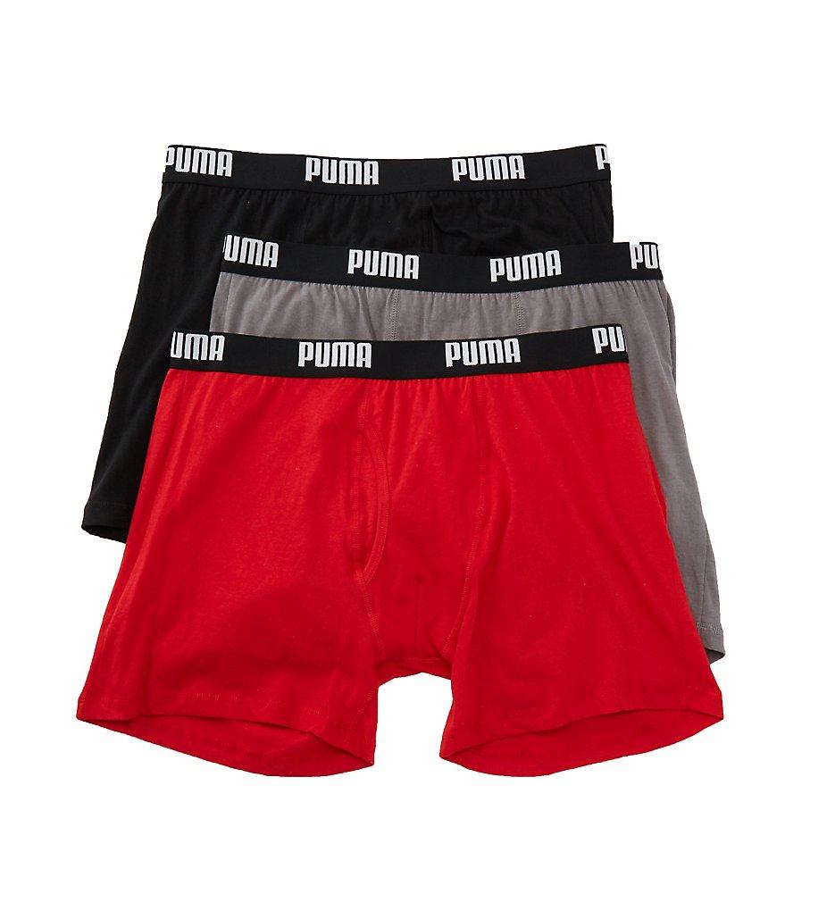 puma pmcbb f performance 100 cotton boxer briefs 3 pack ebay. Black Bedroom Furniture Sets. Home Design Ideas