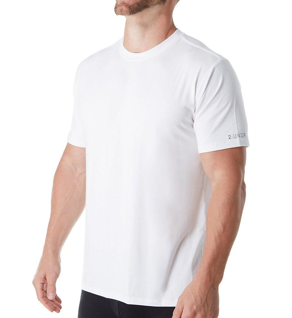 2UNDR 2U09CN Jersey Modal Blend Crew Neck T-Shirt (White XL)
