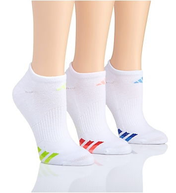 Adidas Cushioned Variegated No Show Sock - 3 Pack