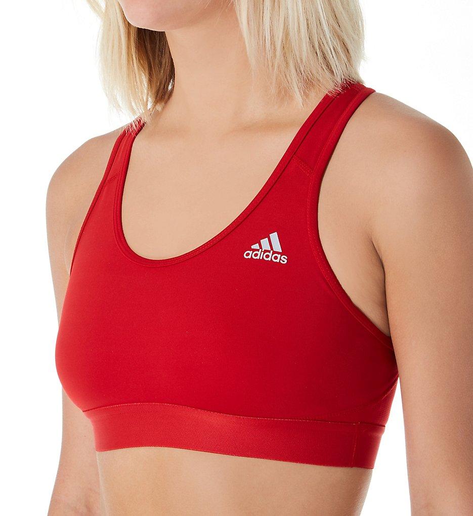 Adidas 881T Climalite Alphaskin Medium Impact Sports Bra (Power Red)