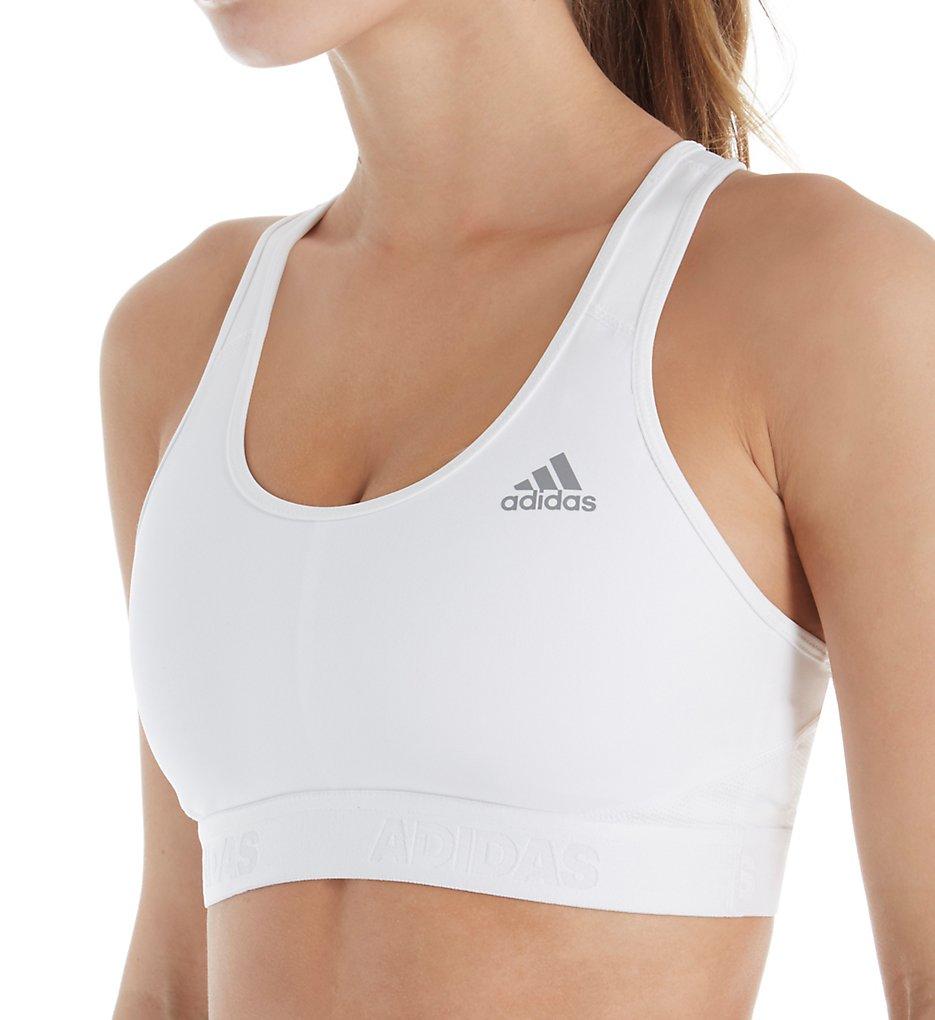 Adidas >> Adidas CE0786 Climacool Racerback Sports Bra (White S)