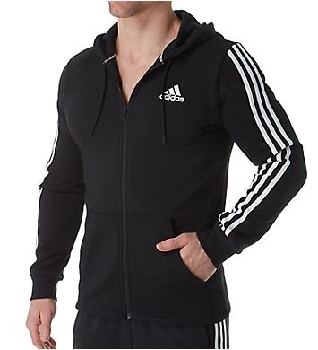 Adidas Athletic 3 Stripe Full Zip Hoodie