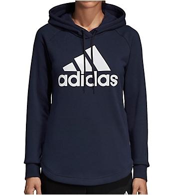 Adidas Long Sleeve Logo Pullover Hoodie