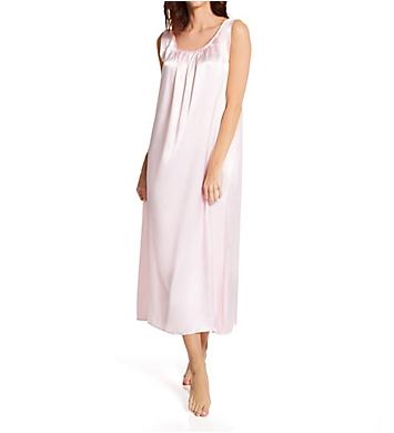 Amanda Rich Satin Banded Sleeve Long Gown