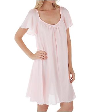 Amanda Rich Short Sleeve Knee Length Nightgown