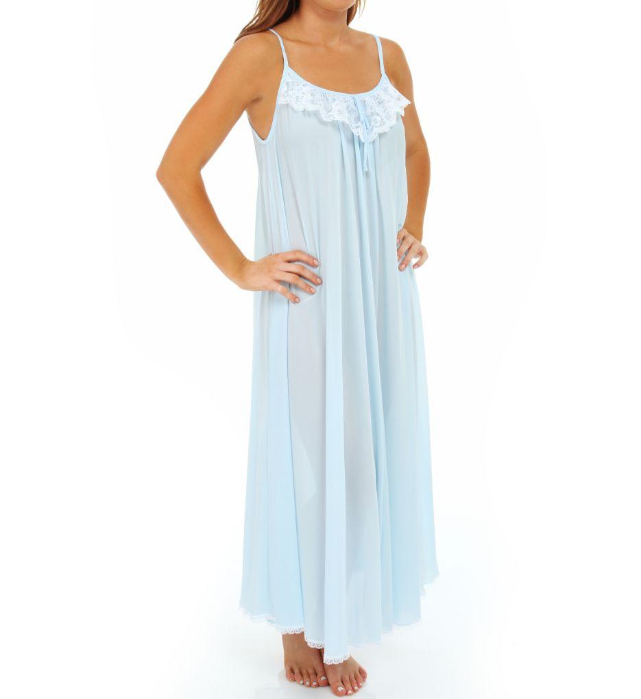 Amanda Rich Lace Trim Ankle Length Nightgown