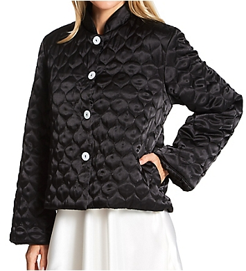 Amanda Rich Quilted Satin Bed Jacket
