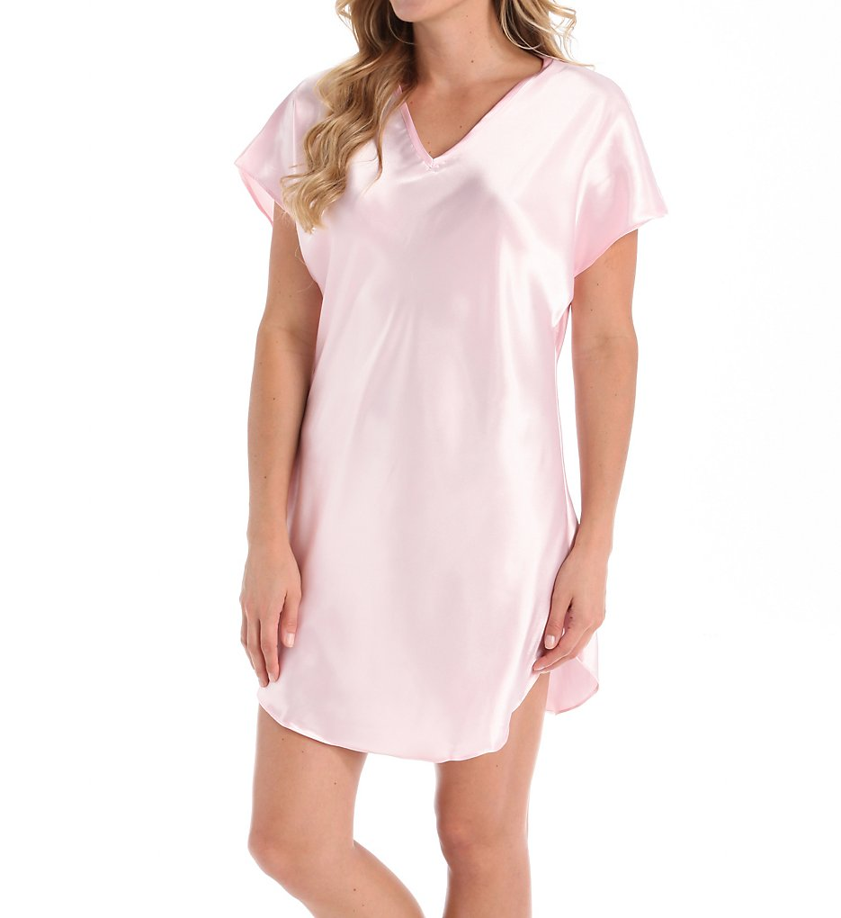 Amanda Rich 412-40 Bias Cut Satin T-shirt Gown 2x Rose | eBay