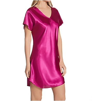 Amanda Rich Bias Cut Satin T-Shirt Gown