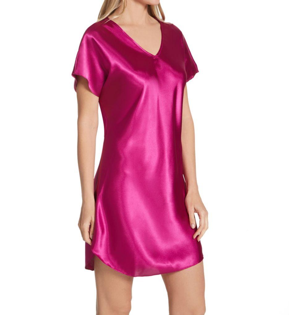 Amanda Rich Bias Cut Satin T-Shirt Gown