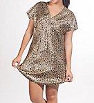 Satin Cheetah Print Gown