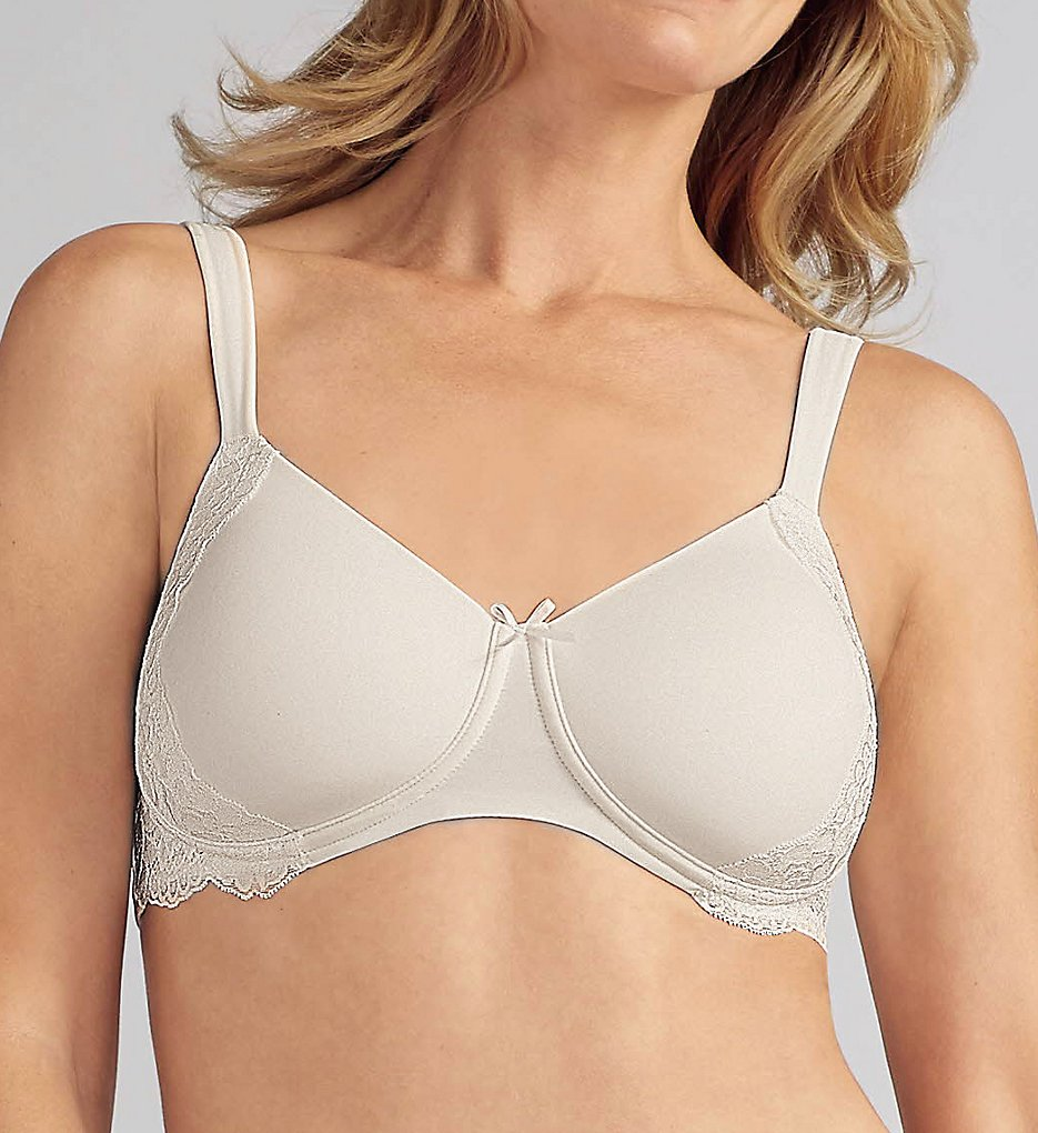 Amoena >> Amoena 43912 Lilly Padded Wirefree Bra (Off-White 32A)