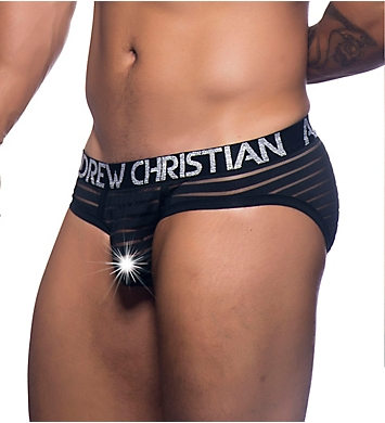 Andrew Christian Almost Naked Sheer Stripe Brief