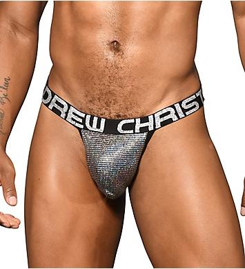 Andrew Christian Shock Jock Disco Glitter Jock with Cup Pad