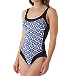 Moroccan Tile Fanny One Piece Swimsuit