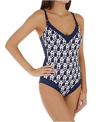 Anita Blue Diamond Crush Wire Free One Piece Swimsuit