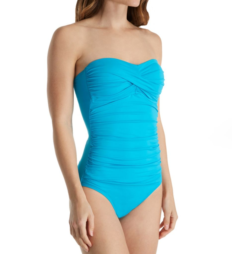 Anne Cole Live in Color Bandini One Piece Swimsuit
