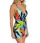 Polynesian Palm Maillot One Piece Swim Dress