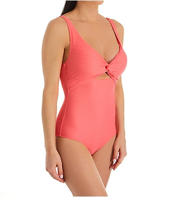 Anne Cole Dream Weaver Twist Front Scoop One Piece Swimsuit