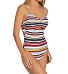 Boardwalk Stripe Cinch Maillot One Piece Swimsuit
