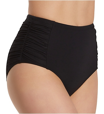 Anne Cole Live In Color Shirred High Waist Swim Bottom