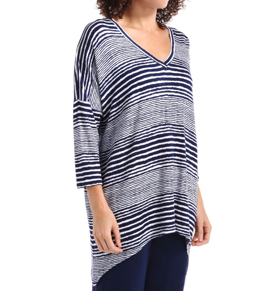 Anne Klein Escape 3/4 Sleeve French Terry Tunic Top