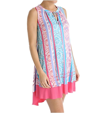 Anne Klein Summer Sleeveless Short Sleepshirt