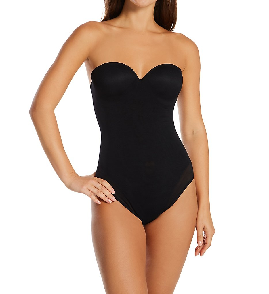 Annette - Annette 10543 Convertible Strapless Shaping Bodysuit (Black 32B)
