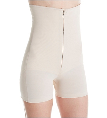 Annette Zip Front High Waist Boy Short Shaper