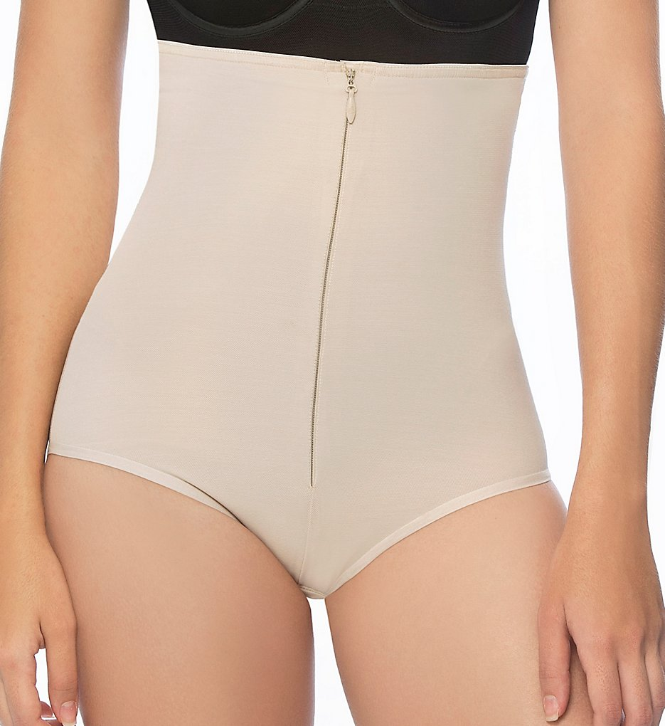 Annette - Annette 17547 Extra Firm Control High Waist Shaper Brief (Beige 2X)