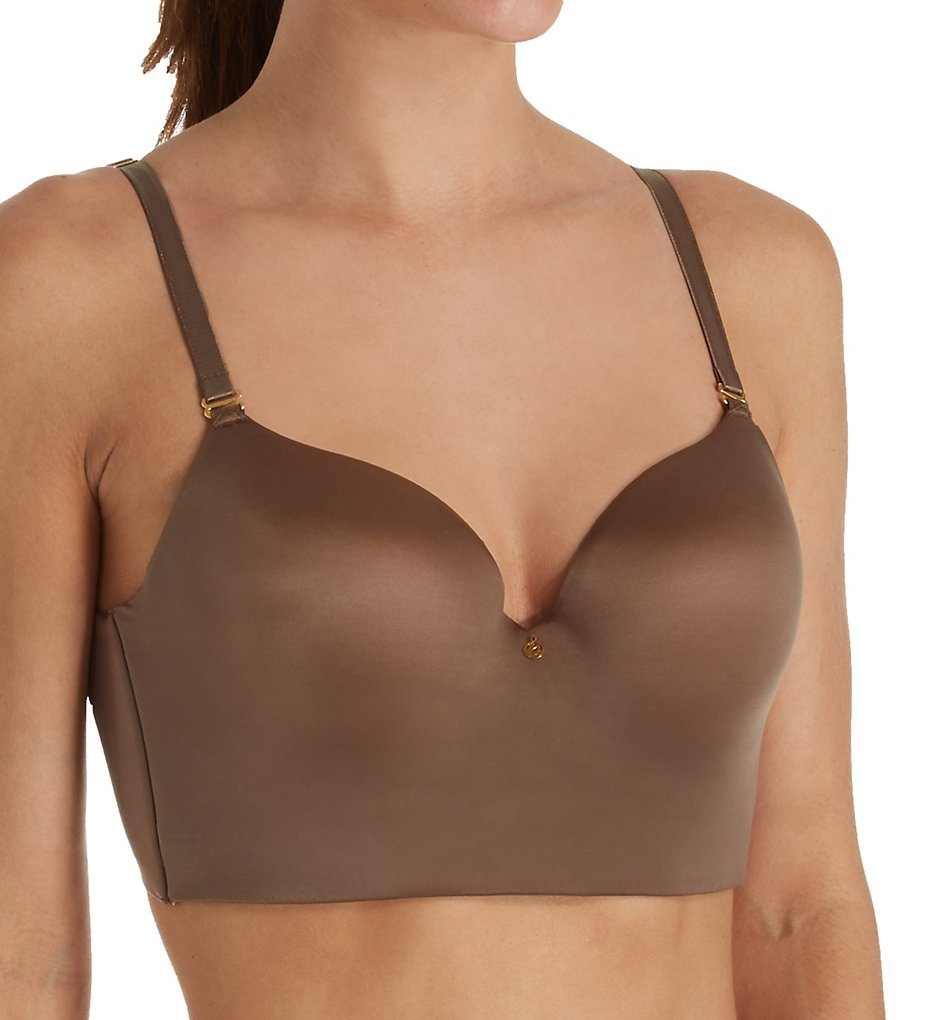 Annette >> Annette UN0010BR Low Plunge Light Control Bra with Side Support (Coffee 32C)