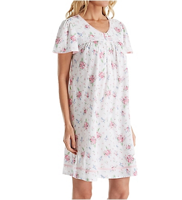 Aria Ditsy Cotton Short Sleeve Nightgown