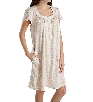 Aria Spring Short Sleeve Short Nightgown