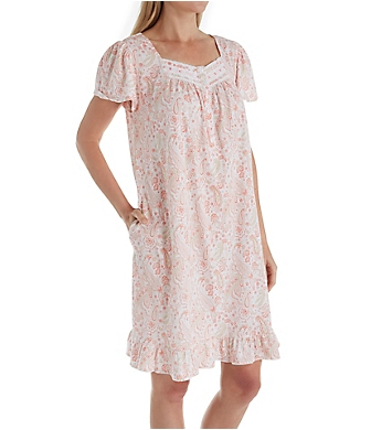 Aria Blooming Floral Short Sleeve Short Nightgown