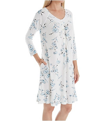 Aria Watercolor 3/4 Sleeve Short Gown
