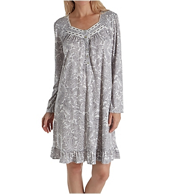 Aria Long Sleeve Floral Short Nightgown