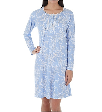 Aria Blue Ivy Long Sleeve Short Gown