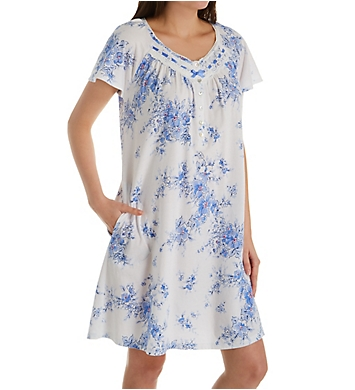 Aria Peri Day Cotton Jersey Short Sleeve Short Gown