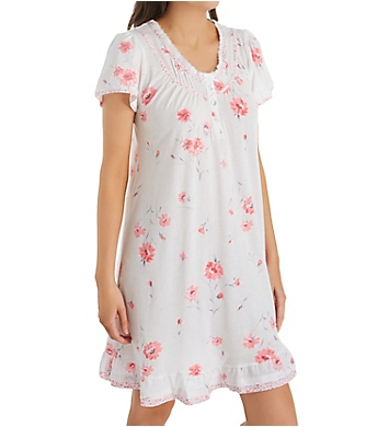 Aria Pink Floral Short Sleeve Short Gown