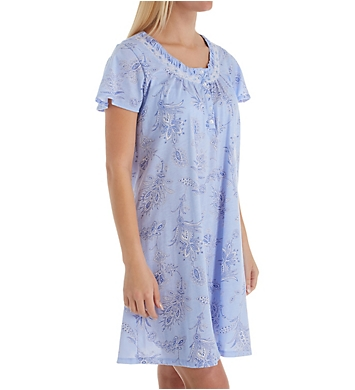 Aria Peri Cotton Short Sleeve Short Gown