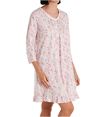 Aria Lace Beaded 3/4 Sleeve Short Gown