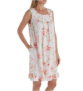 Aria Blooming Floral Sleeveless Short Nightgown
