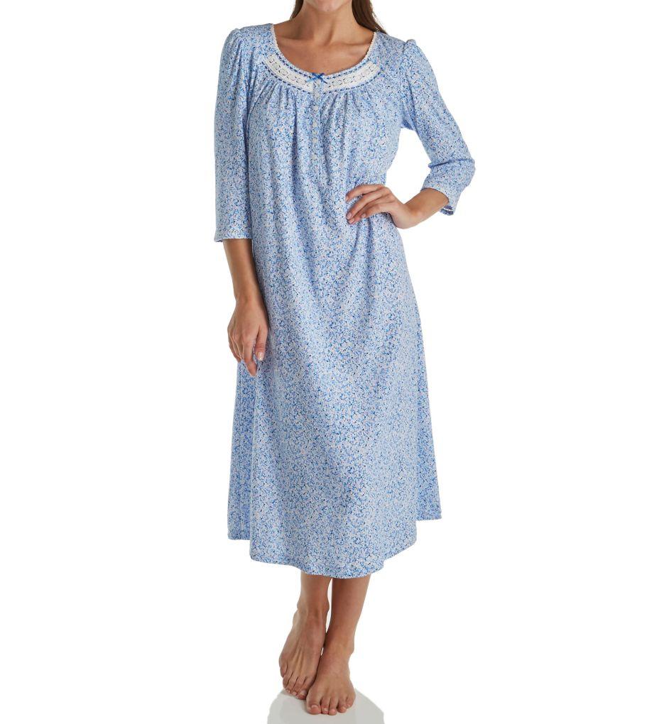 Aria Blue Geo 3/4 Sleeve Ballet Nightgown