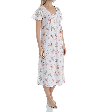 Aria Pink Floral Short Sleeve Ballet Nightgown