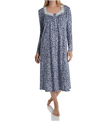 Aria Blue Sky Long Sleeve Long Ballet Nightgown