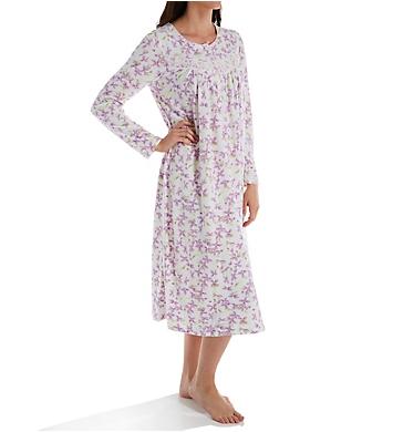 Aria Brushed Waffle Fleece Long Sleeve Long Gown