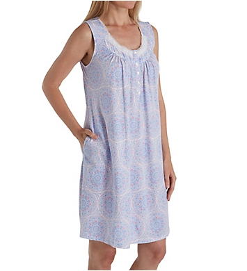 Aria Lavender Dream Sleeveless Short Nightgown
